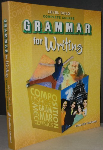 9780821502228: Grammar for Writing Complete Course - Level Gold