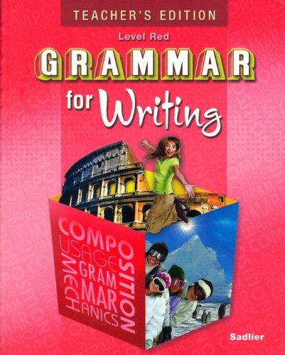 9780821502266: Teacher's Edition Grammar for Writing Level Red Grade 6