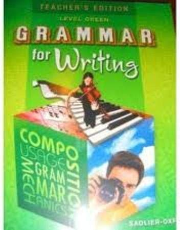 9780821502310: Grammar for Writing: Level Green (Teacher's Edition)