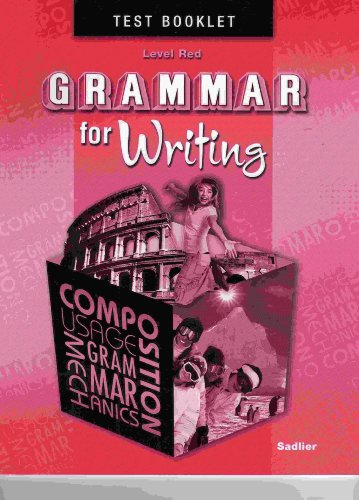 9780821502365: Grammar for Writing, Level RED, Student Test Booklet (Grade 6)
