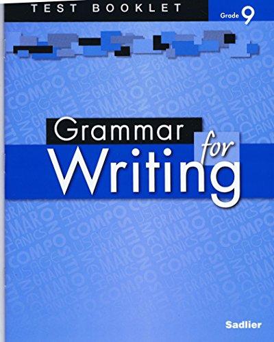 9780821502396: Grammar for Writing Test Booklet (Level Blue) Grade 9
