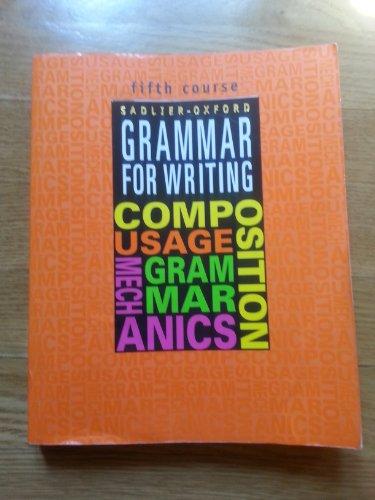 9780821503508: Grammar For Writing: 5th Course, Grade 10