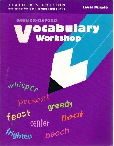 Vocabulary Workshop, Level Purple, Teacher's Edition: Jerry L. Johns