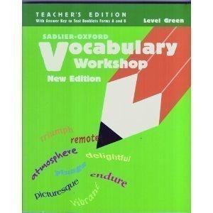 9780821503737: Vocabulary Workshop, Level Green, Teacher's Edition