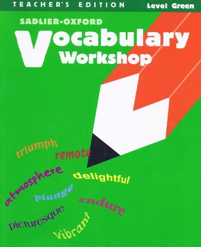 9780821504130: Vocabulary Workshop - Level Green Teacher's Edition