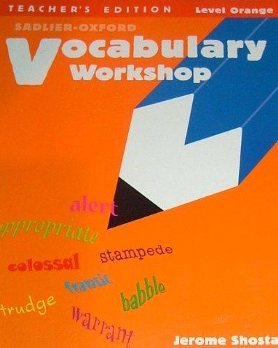 9780821504147: Vocabulary Workshop, Teacher's Edition, Level Orange