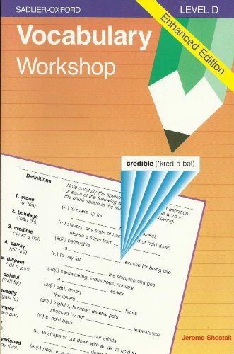 9780821506097: Vocabulary Workshop, Level D (Enhanced edition)