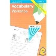 9780821506127: Vocabulary Workshop: Level G Enhanced Edition