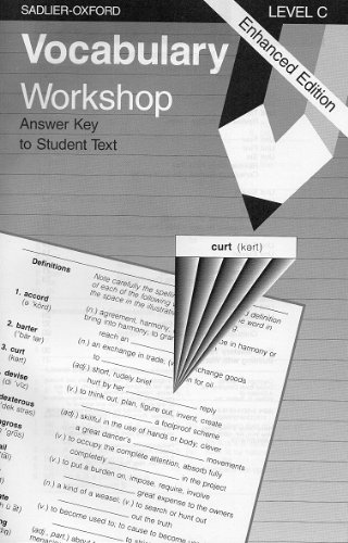 9780821506189: Vocabulary Workshop: Level C, Answer Key for Student Text