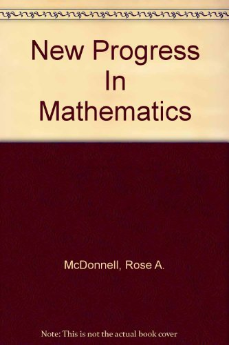 9780821516775: New Progress In Mathematics