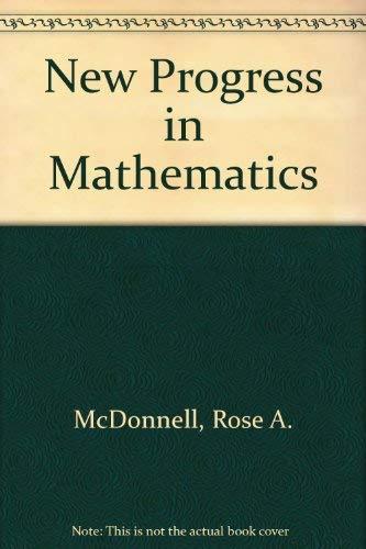 9780821517178: New Progress in Mathematics