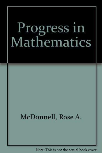 9780821526309: Progress in Mathematics