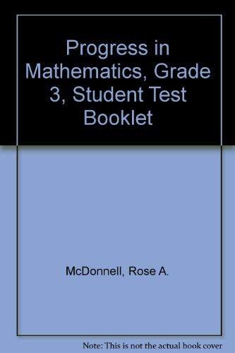 9780821526637: Progress in Mathematics, Grade 3, Student Test Booklet