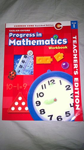 9780821551110: Progress in Mathematics Grade 1 Workbook - Teacher's Edition - Common Core Enriched Edition