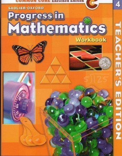 9780821551141: Progress in Mathematics Grade 4 Workbook - Teacher's Edition - Common Core Enriched Edition