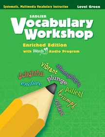 9780821566237: Vocabulary Workshop Enriched Edition Green Level Grade 3