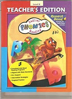 Sadlier Phonics Reading Teachers Edition Grade K (New Edition, Level K) (0821570102) by Morrow