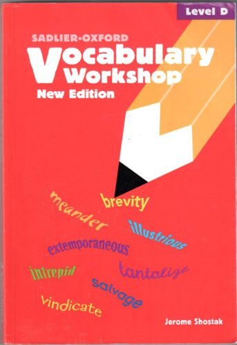 9780821571095: Vocabulary Workshop: Level D