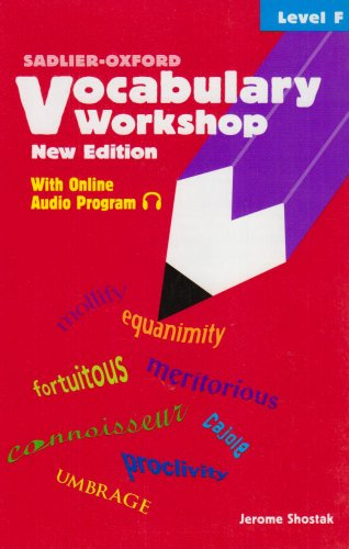 9780821571118: Vocabulary Workshop: Level F
