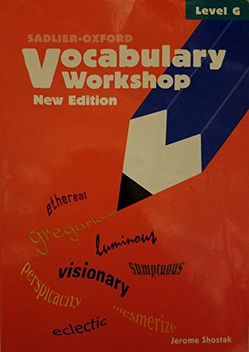 9780821571125: Vocabulary Workshop Level G Student 2005