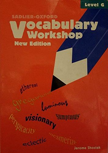 9780821571125: Vocabulary Workshop Level G Student 2005