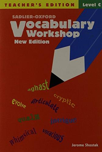 9780821571187: Vocabulary Workshop, Level C, Teacher's Edition