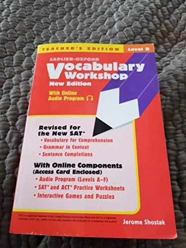 9780821571194: Vocabulary Workshop, Level D, Teacher's Edition||