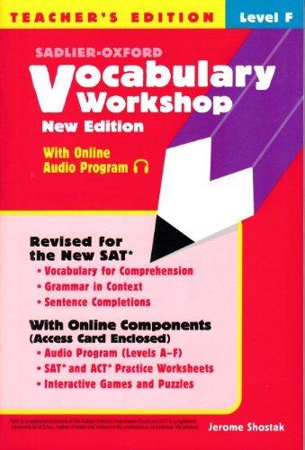9780821571217: Vocabulary Workshop Level F - Teacher's Edition