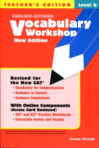 9780821571224: Vocabulary Workshop Level G - Teacher's Edition