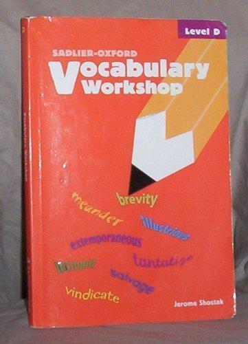 9780821576090: Vocabulary Workshop: Level D