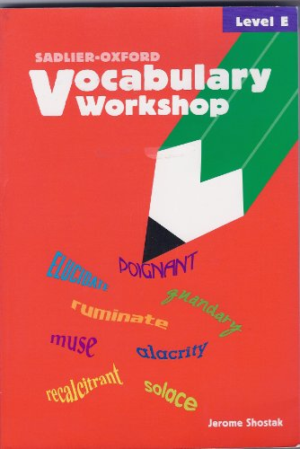 9780821576106: Vocabulary Workshop: Level E