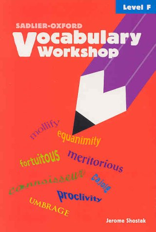 9780821576113: Vocabulary Workshop: Level F