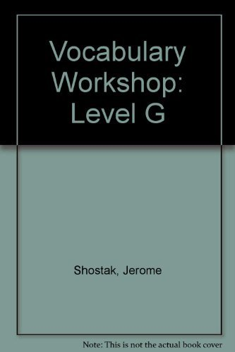 9780821576120: Vocabulary Workshop: Level G