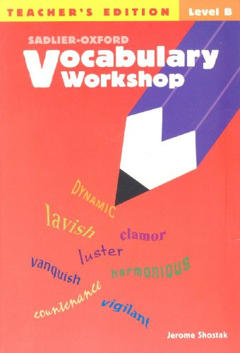 9780821576175: Vocabulary Workshop: Teacher's Edition, Level B