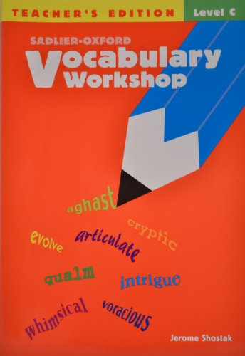 Vocabulary Workshop, Level C, Teacher's Edition (9780821576182) by Shostak, Jerome