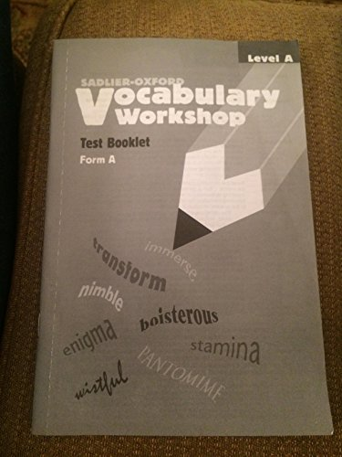 9780821576267: Vocabulary Workshop Test Booklet Form A Level A