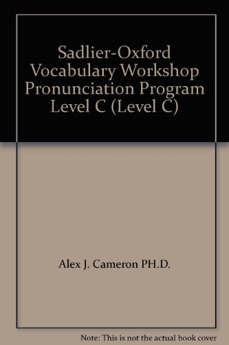9780821576588: Sadlier-Oxford Vocabulary Workshop Pronunciation Program Level C (Level C)
