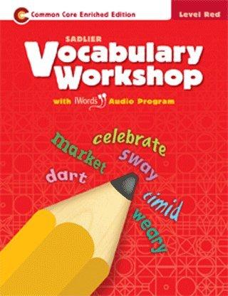 9780821580011: Vocabulary Workshop Level Red (2013)