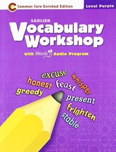 9780821580028: Vocabulary Workshop ©2011 Level Purple (Grade 2) Student Edition