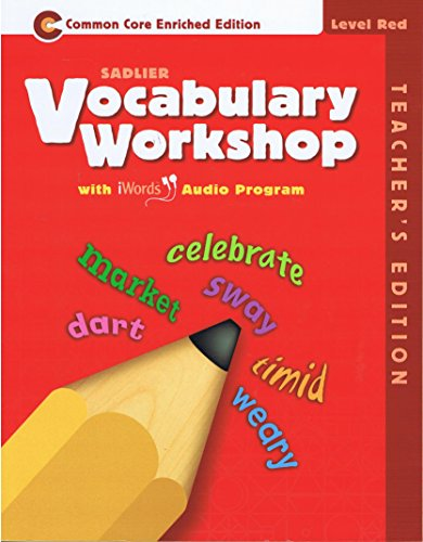 9780821580219: Vocabulary Workshop Common core Enriched Edition Level Red Teacher's Edition