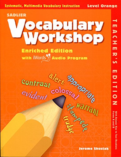 9780821580240: Sadlier Vocabulary Workshop Level Orange Enriched Edition Teacher's Edition