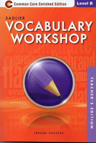 9780821580271: Vocabulary Workshop Common Core Enriched Edition Level B (Grade 7): Teacher Edition