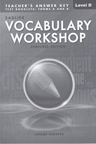 vocabulary workshop answers level d