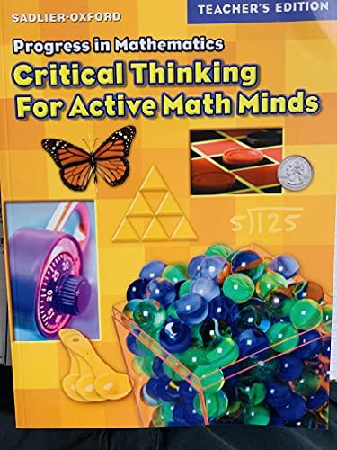 9780821581445: Progress in Mathematics: Critical Thinking for Active Math Minds, Grade 4, Teacher's Edition