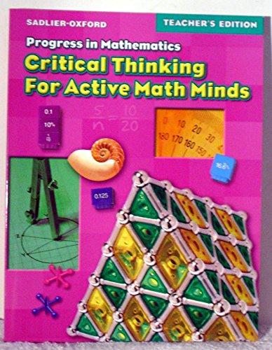 9780821581469: Progress in Mathematics (critical thinking for active math minds, grade 6)
