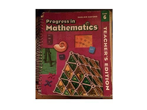 9780821582169: Progress in Mathematics, Grade 6, Teachers's Edition