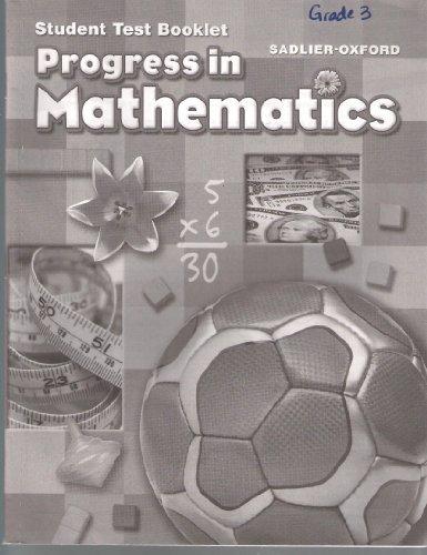 9780821582633: Student Test Booklet Grade 3 Sadlier-Oxford Progress In Mathematics