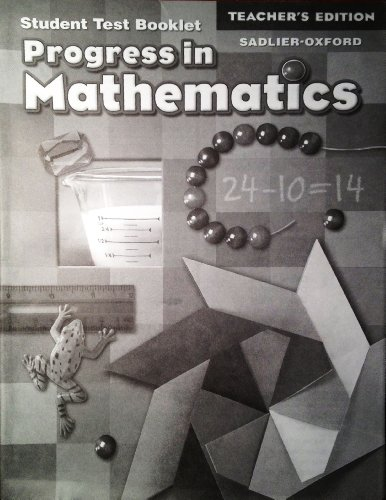 9780821582725: Progress in Mathematics: Teacher's Edition of Student Test Booklet (Grade 2): Answer Key for Test Booklet