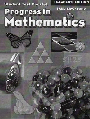 9780821582749: Progress in Mathematics: Teacher's Edition of Student Test Booklet (Grade 4): Answer Key for Test Booklet