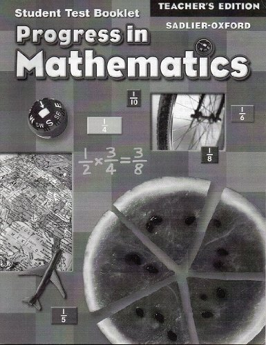 9780821582756: Progress in Mathematics: Teacher's Edition of Student Test Booklet (Grade 5): Answer Key for Test Bo